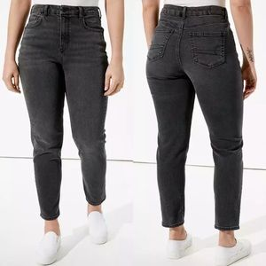 American Eagle Black High Waist Mom Jeans
